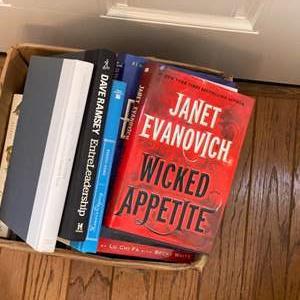 Lot # 268 - Box of hardback novels