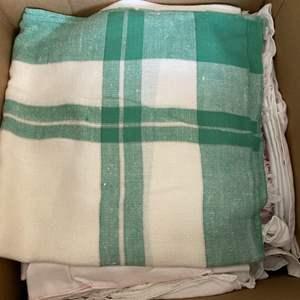 Lot # 278  - Box full of vintage linens