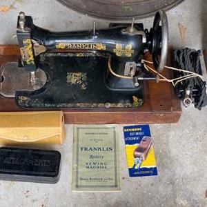 Lot # 304 - Antique Franklin sewing machine