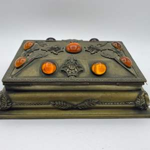 Lot # 318 - Victorian Pearl casket with contents including Victorian 13k baby ring