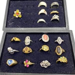 Lot # 319 - Costume jewelry rings