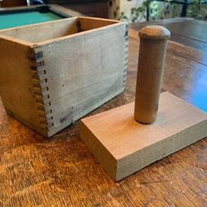 Lot # 324 - Antique butter press