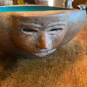 Lot # 325 - Vintage Aztec style ceramic bowl