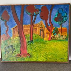 Lot # 1 - 1960 Klopfer original painting on canvas 21x22