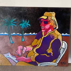 "Lot # 3 -1989  Klopfer original painting on board  ""Ned Long Portrait"" 20x24"