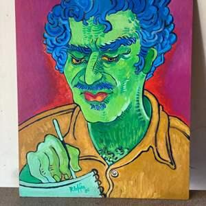 "Lot # 6 - 1986 Klopfer original painting ""Ned Long"" on board 20x24"