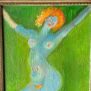 Lot # 7 - 1974 Klopfer original painting on canvas 21x17 framed