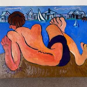 Lot # 15 - 1984 Klopfer original painting on board 18x24