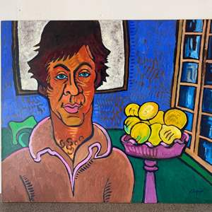 "Lot # 19 - 1988 Klopfer original painting ""Mike Corob"" on board 24x20"