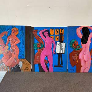 Lot # 20 - 1998 Klopfer original painting series on board  14x18 each