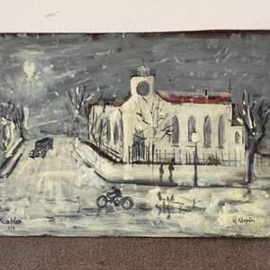 Lot # 23 - Klopfer original painting (2-sided) on board