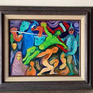 Lot # 32 - Klopfer original painting  on board 16x19 framed