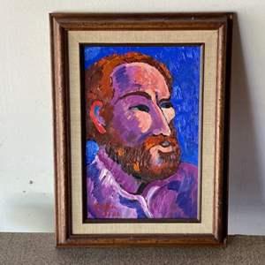 Lot # 34 - 1982 Klopfer original painting on board framed 16x12