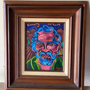 Lot # 35 - 1974 Klopfer original painting on board portrait framed 18x16