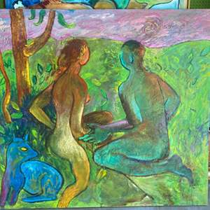Lot # 39 - Klopfer original oversized painting on canvas 46x51