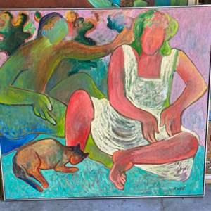 Lot # 41 - Klopfer original oversized painting on canvas 46x42