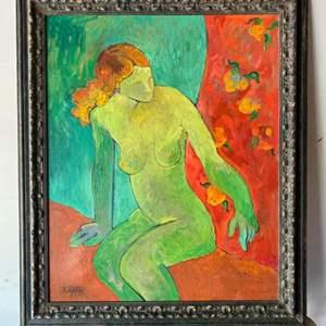 Lot # 43 - Klopfer original painting on canvas framed 38x32