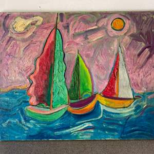 Lot # 51 - 1960 Klopfer original painting on canvas 30x25