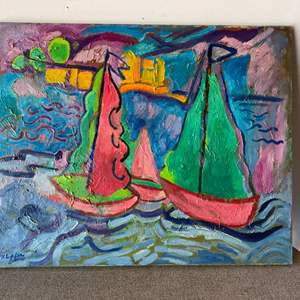 Lot # 52 - Klopfer original painting on canvas 30x24