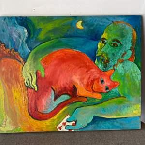 Lot # 55 - Klopfer original painting on canvas 24x30