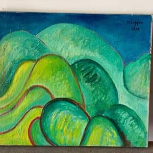 Lot # 58 - 1972 Klopfer original painting on canvas 24x21