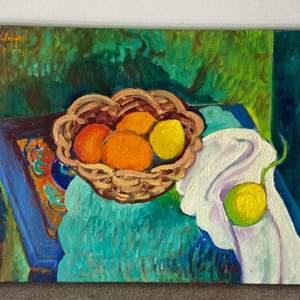 Lot # 60 - 1975 Klopfer original painting on canvas 19x15