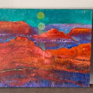 Lot # 62 - Klopfer original painting on canvas 24x20