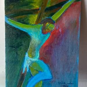 Lot # 65 - 1972 Klopfer original painting on canvas 12x16