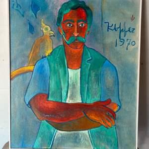 Lot # 66 - 1970 Klopfer original painting on canvas 30x37