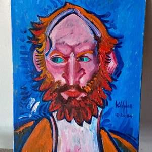 Lot # 67 - 1984 Klopfer original painting on canvas 14x18