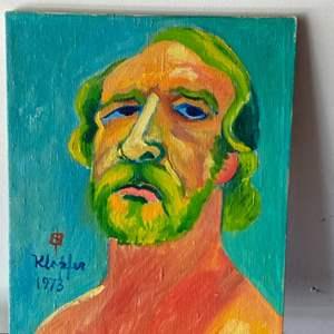 Lot # 69 - 1973 Klopfer original painting on canvas 19x15
