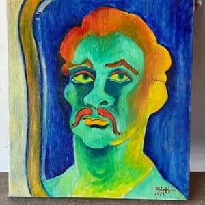 Lot # 70 - 1973 Klopfer original painting portrait on canvas 18x20
