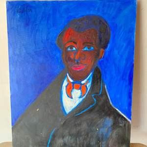 Lot # 71 - 1985 Klopfer original painting portrait on canvas 30x24