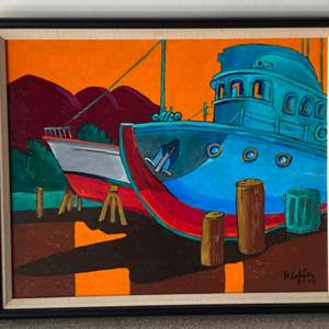 Lot # 72 - 2003 Klopfer original painting on canvas 18x22 framed