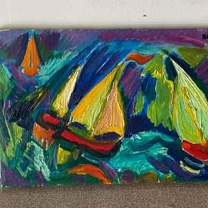 Lot # 74 - 1970 Klopfer original painting on canvas 10x15