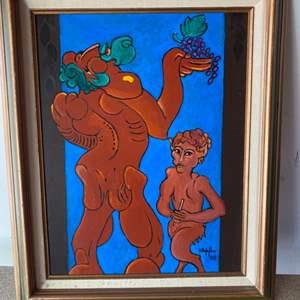 Lot # 76 - 1998 Klopfer original painting  on canvas 23x19 framed