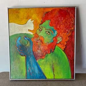 Lot # 77 - Klopfer original painting on canvas 20x23 framed