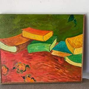 Lot # 78 - 1970 Klopfer original painting on canvas 24x21 framed