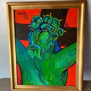 Lot # 81 - 1999 Klopfer original painting on board 19x23 framed