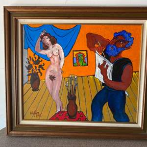Lot # 83 - 1998 Klopfer original painting on board 26x30 framed