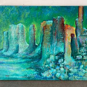 Lot # 84 - 1976 Klopfer original painting on canvas 30x24