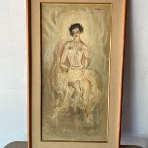 Lot # 86 - 1959 Klopfer original painting on canvas 21x36 framed