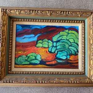 Lot # 89 - 1973 Klopfer original painting on canvas 14x11 framed
