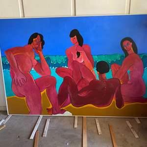 Lot # 90 - 1993 Klopfer original oversized painting on board 49x73