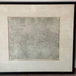 Lot # 95 - Sydney Helfman signed serigraph numbered  5/100 17x19