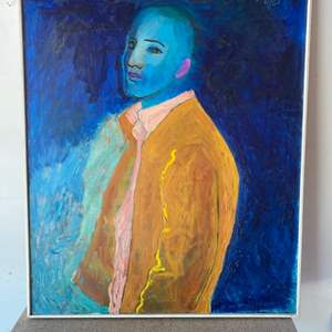 Lot # 97 - Sydney Helfman 1961 original painting on canvas 42x34