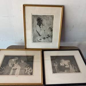 Lot # 99 - Three Sydney Helfman serigraphs signed and numbered