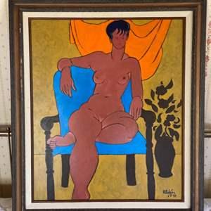 Lot # 110 - 1998 Klopfer original painting 29x25