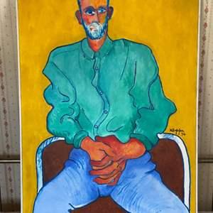 Lot # 114 - 1994 Klopfer original painting on canvas 31x41 framed