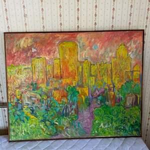 Lot # 116 - Klopfer original painting on canvas 32x40